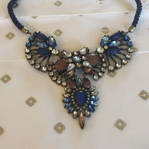 Rhinestone and Czech Glass Necklace